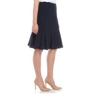 Ralph Lauren Chaps Jersey Polk a Dot Skirt Size L